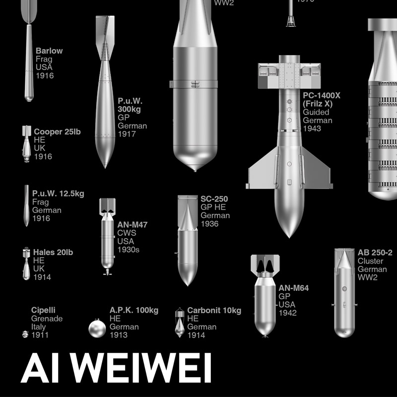 Ai Weiwei bombs limited edition poster detail image 1