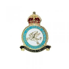 Duxford crest pin badge front