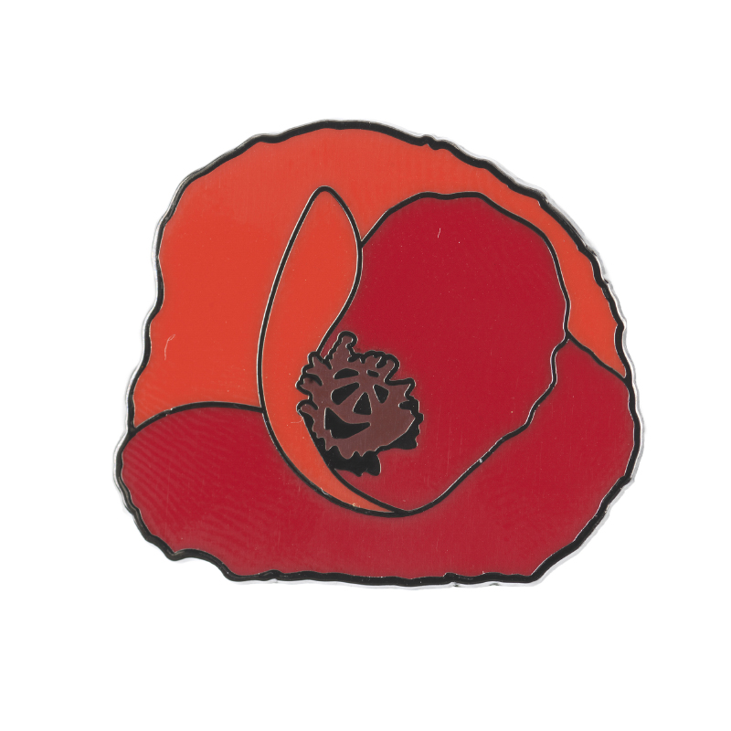Image of Field Poppy Pin Badge front