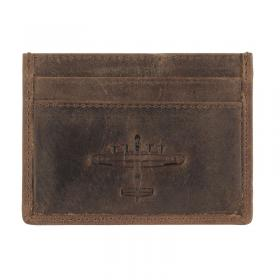 Lancaster leather card holder front main