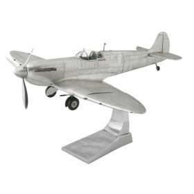 Large Metal Spitfire model front side view