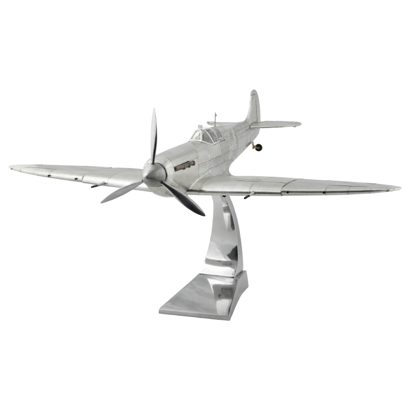 Large Metal Spitfire model front view