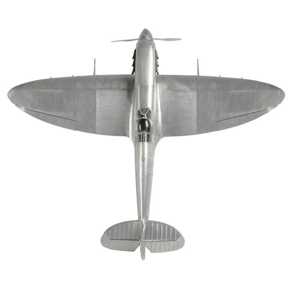 Large Metal Spitfire model top view