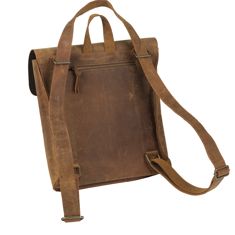 Distressed leather backpack 2