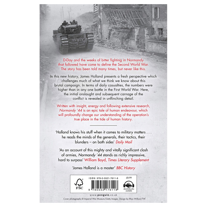 Normandy 44 - D-Day and the Battle for France (PB) rear blurb