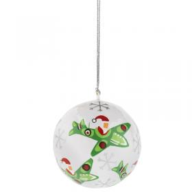 Santa in a Spitfire Fairtrade Bauble main
