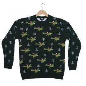 Santa in a spitfire christmas jumper front main