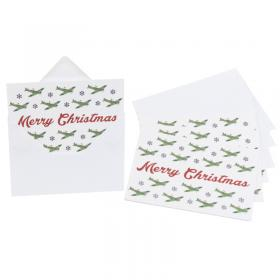 Santa in a spitfire set of 10 christmas cards main