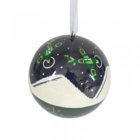 Spitfire snow scene christmas bauble
