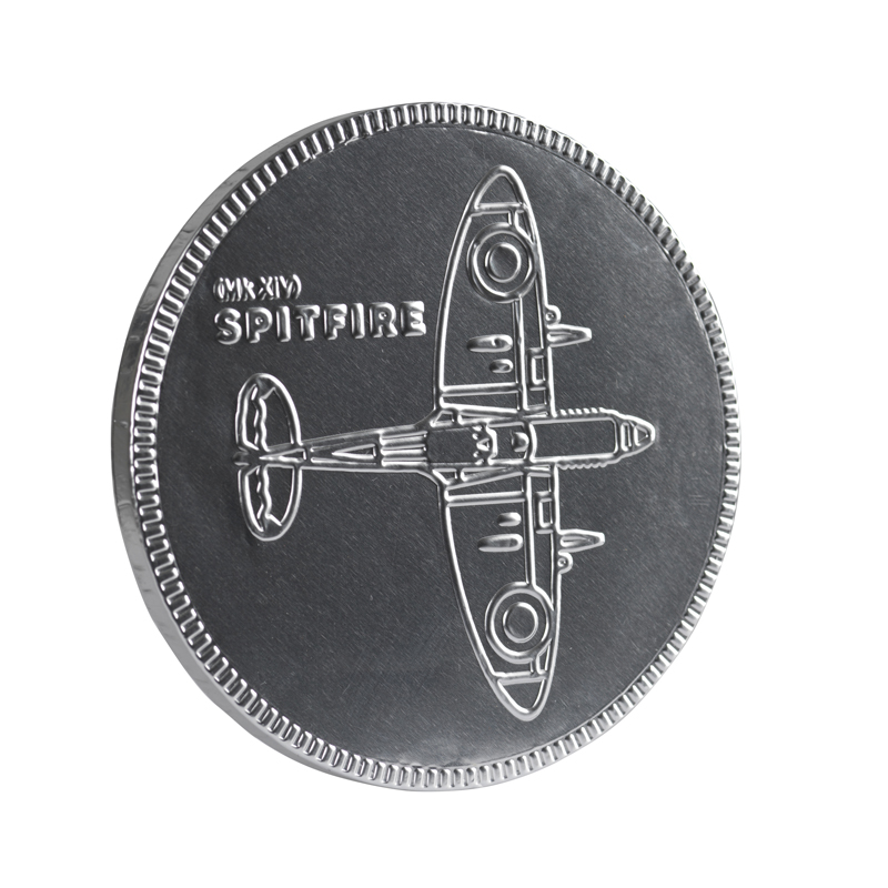 Spitfire blueprint chocolate coin side image