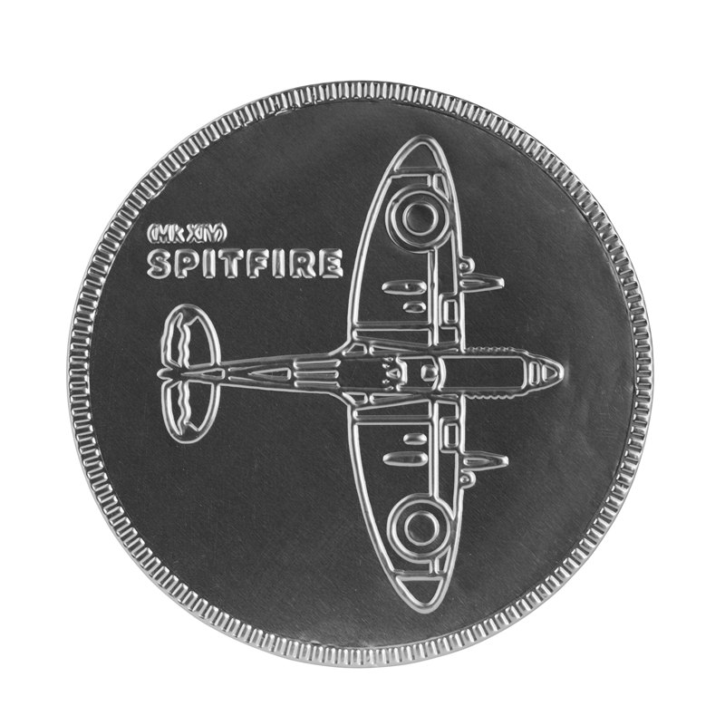Spitfire blueprint chocolate coin