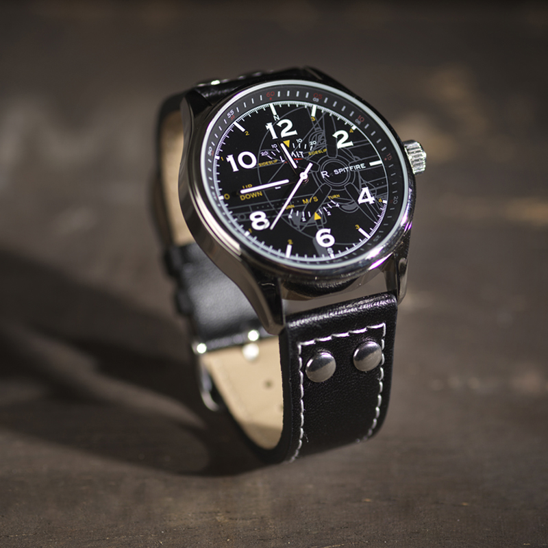 Spitfire blueprint pilot watch lifestyle