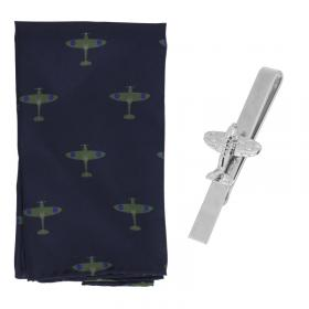 Spitfire classic gift set silk square and tie slide