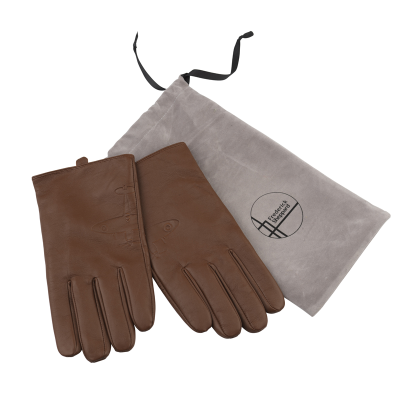Aviator leather gloves image 4