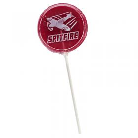 Spitifre red lollipop with natural colouring