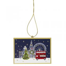 Wooden London postcard decoration front main