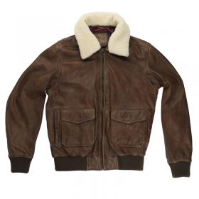 Aviator leather jacket 1