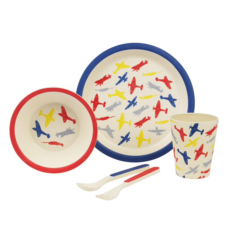 Planes Bamboo Dinner Set image 2