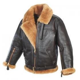 leather sheepskin aviator jacket mens main