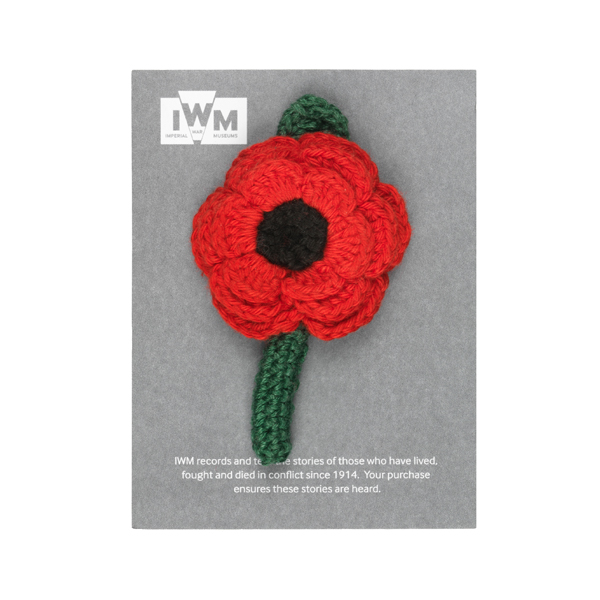 Poppy Crocheted Brooch