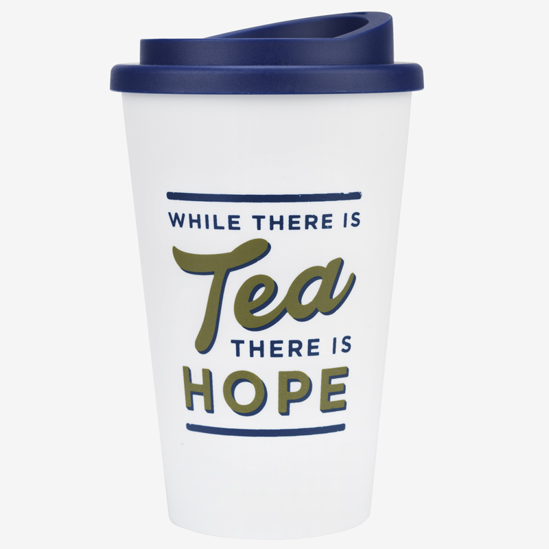 while there is tea there is hope travel mug image
