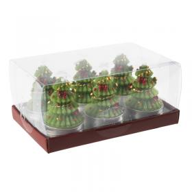 Christmas candle image boxed