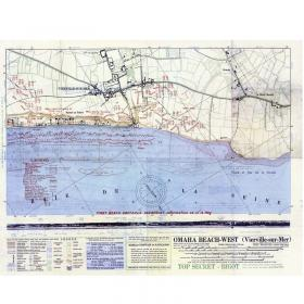 D-Day map silk scarf