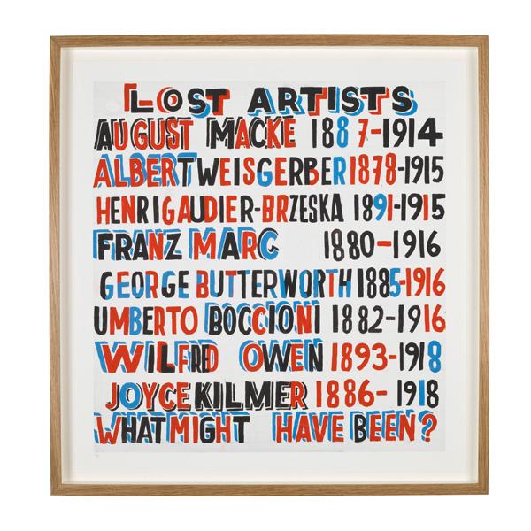 DC Bob & Roberta Smith Lost Artists limited edition print